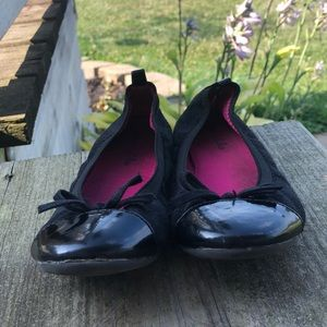 Black olive & Edie dress flats with bow